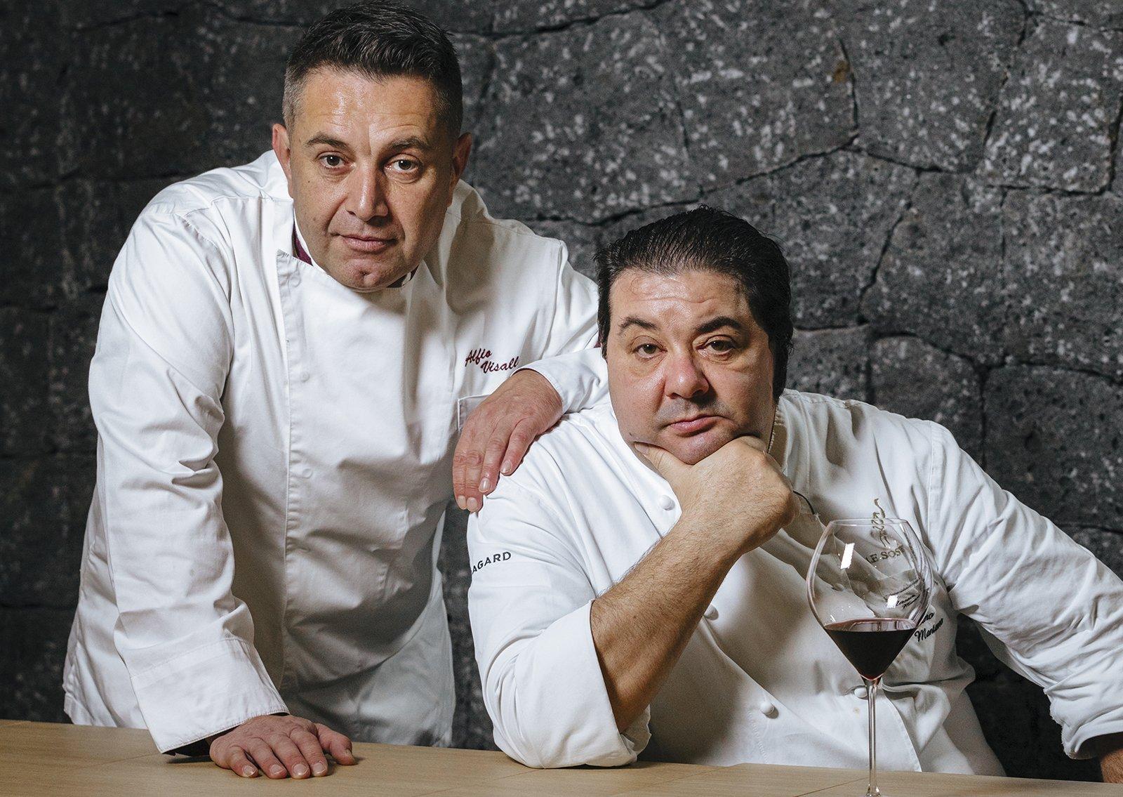 Chef Aflio Visalli e Massimo Mantarro